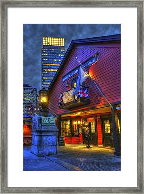 Boston Tea Party Museum At Night Framed Print by Joann Vitali