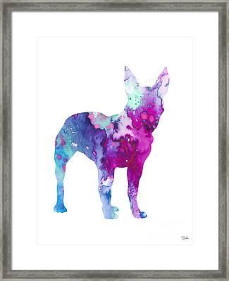 Boston Terrier 4 Framed Print by Luke and Slavi