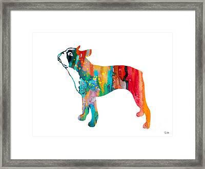 Boston Terrier Framed Print by Luke and Slavi