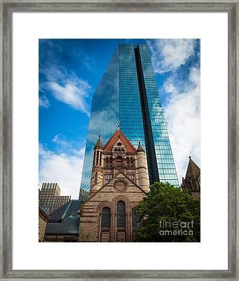 Boston Trinity Church Framed Print by Inge Johnsson