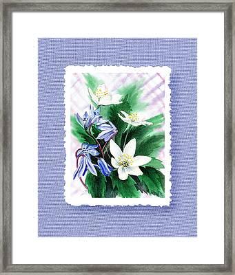 Botanical Impressionism Jasmine Flowers Bouquet Framed Print by Irina Sztukowski