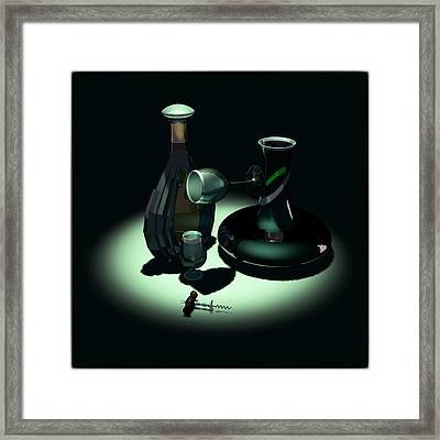 Bottle And Carafe Framed Print by Andrei SKY