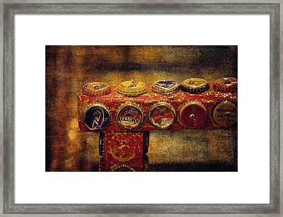 Bottle Caps Arm Chair Framed Print by Maria Angelica Maira