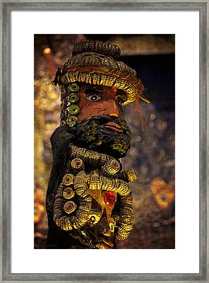 Bottle Caps Figure Framed Print by Maria Angelica Maira
