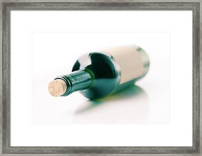 Bottle Of Wine Framed Print by Wladimir Bulgar