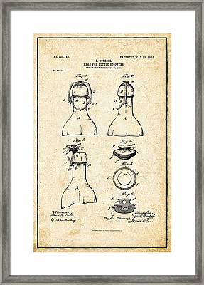 Bottle Stopper Patent Framed Print by Digital Reproductions