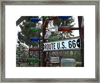 Bottle Trees Route 66 Framed Print by Glenn McCarthy Art and Photography