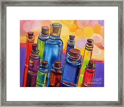 Bottled Rainbow Framed Print by Julie Brugh Riffey