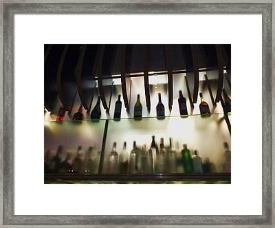Bottles At The Bar Framed Print by Anna Villarreal Garbis