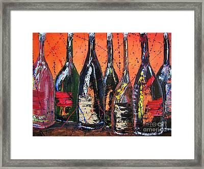 Bottle's Enjoyed Framed Print by Jodi Monahan