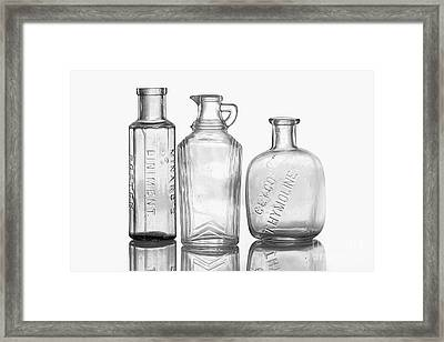 Bottles Of Time Framed Print by Cindi Ressler