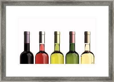 Bottles Of Wine Framed Print by Bruno Haver