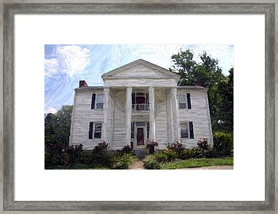 Bottom-mcafee-guthrie House - Perryville Ky Framed Print by Thia Stover