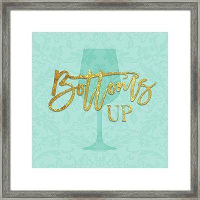 Bottoms Up Framed Print by Amy Cummings
