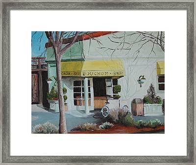 Bouchon Bakery Framed Print by Wyn Ericson