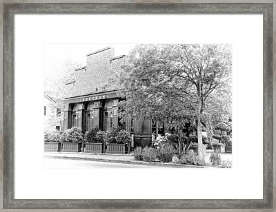 Bouchon In Black And White Framed Print by Jenny Hudson