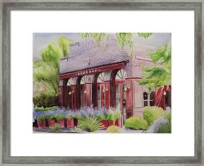 Bouchon Framed Print by Wyn Ericson