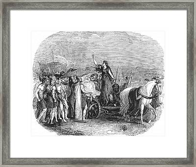 Boudica Leading British Tribes 60 Ad Framed Print by Photo Researchers