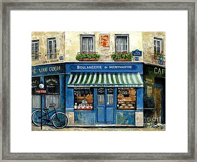 Boulangerie De Montmartre Framed Print by Marilyn Dunlap