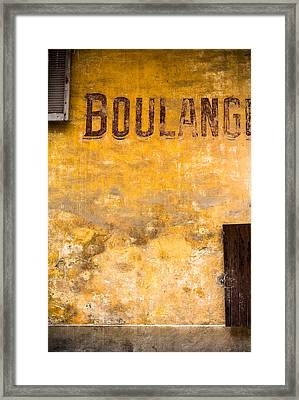 Boulangerie Framed Print by Instants