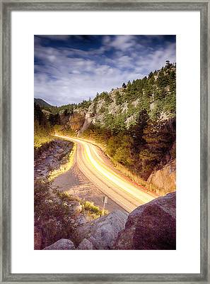 Boulder Canyon Beams Of Light Framed Print by James BO  Insogna