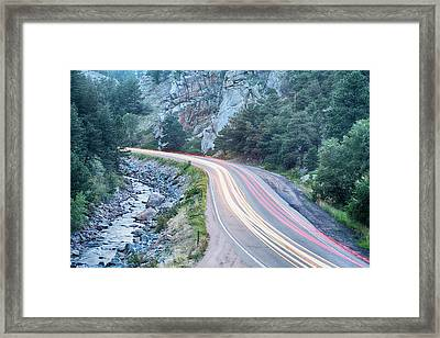 Boulder Canyon Drive And Commute Framed Print by James BO  Insogna