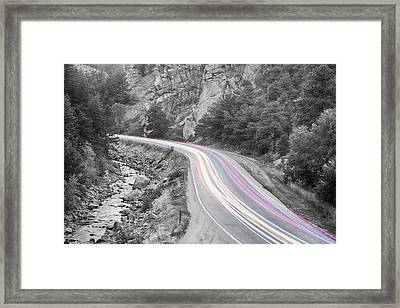 Boulder Canyon Drive And Selective Commute  Framed Print by James BO  Insogna