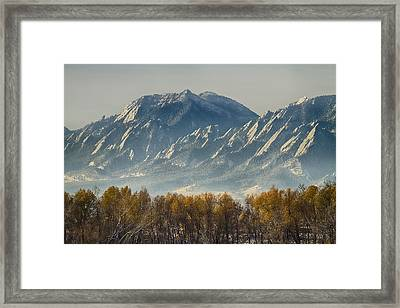 Boulder Colorado Flatirons Autumn View Framed Print by James BO  Insogna