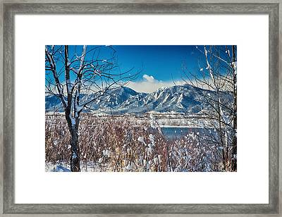Boulder Colorado Winter Season Scenic View Framed Print by James BO  Insogna