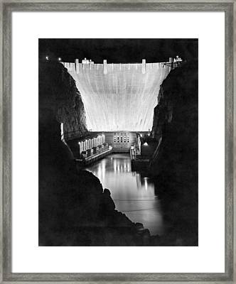 Boulder Dam Framed Print by Underwood Archives