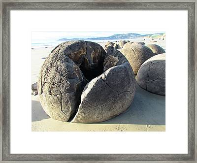 Boulders Framed Print by Joyce Woodhouse