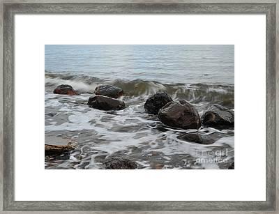 Boulders Framed Print by Randi Grace Nilsberg