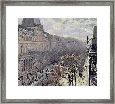 Boulevard Des Italiens Framed Print by Gustave Caillebotte