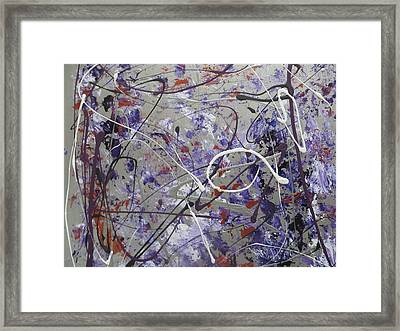 Bouleversement Or Disruption In English. Framed Print by Margarete M Kedl