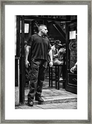 Bouncer Framed Print by Pablo Lopez