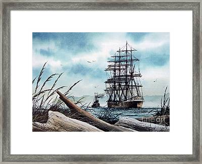 Bound For Blue Water Framed Print by James Williamson