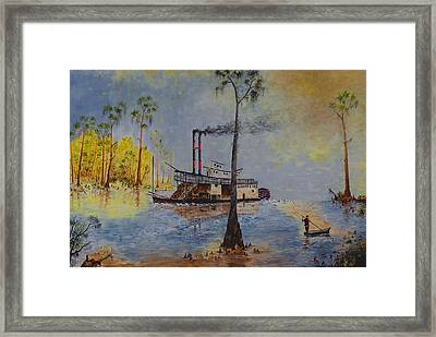 Bound For New Orleans Bayou Saint John Louisiana Framed Print by Richard Barham