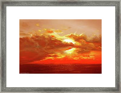 Bound Of Glory - Red Sunset  Framed Print by Gina De Gorna