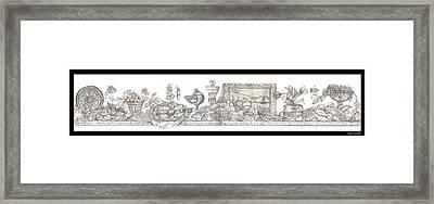 Bounties Of The Sea Framed Print by John Keaton