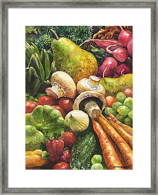 Bountiful Framed Print by Anne Gifford
