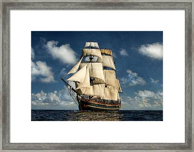 Bounty Making Way Framed Print by Peter Chilelli