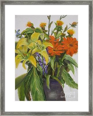 Bouquet Framed Print by Mohamed Hirji