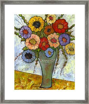 Bouquet Of Flowers Framed Print by Blenda Studio