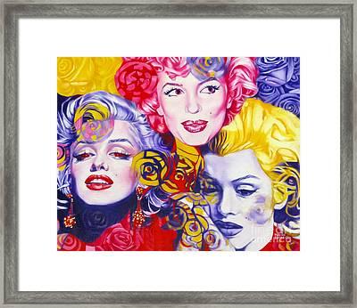Bouquet Of Marilyn Framed Print by Rebecca Glaze
