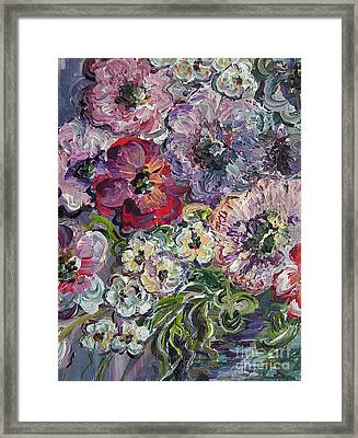 Bouquet Of Sweetness Framed Print by Eloise Schneider