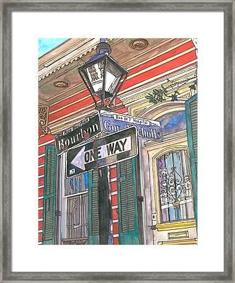 Bourbon And Nicholls Framed Print by John Boles