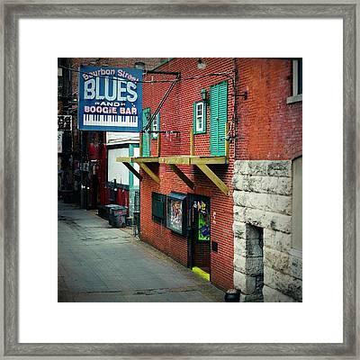 Bourbon Street Blues Framed Print by Linda Unger