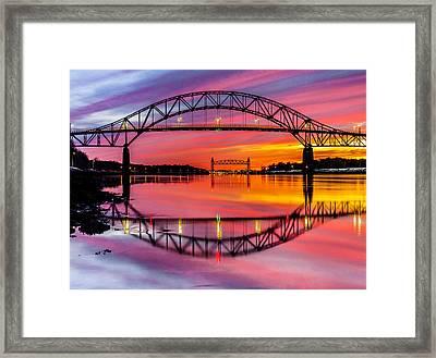 Bourne Bridge Reflection Framed Print by Dean Martin