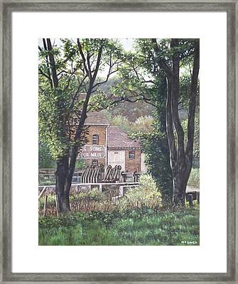 Bournemouth Throop Mill Through Trees Framed Print by Martin Davey
