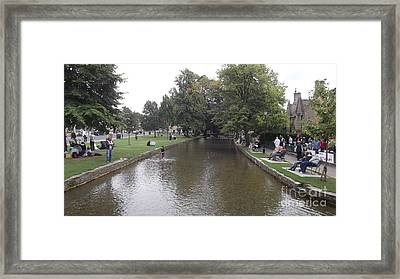 Bourton On The Water Framed Print by John Williams